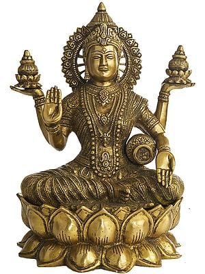 Goddess Lakshmi Seated on Lotus