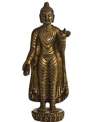 Standing Gandhara Buddha in Varada Mudra