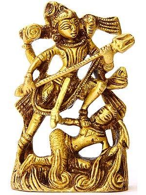 Lord Shiva Killing Andhaksura (Small Sculpture)