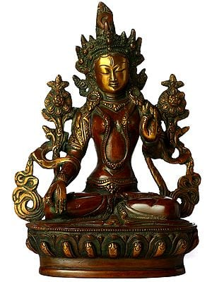 Tibetan Buddhist Goddess White Tara with Seven Eyes