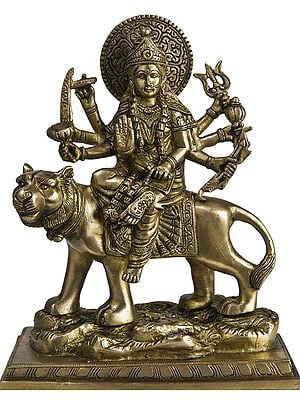 Eight-Armed Durga on Her Mount