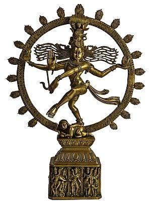 Nataraja (Pedestal Decorated with Dancing Figures of Shiva Parvati)