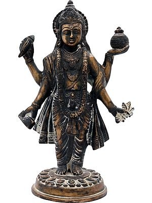 Dhanvantari - The Physician of the Gods (Holding the Vase of Immortality and Herbs )