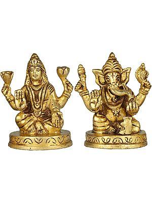 Lakshmi Ganesha (Small Sculpture)