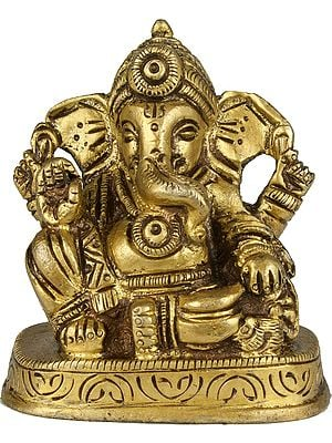 Lord Ganesha in Abhaya Mudra (Small Sculpture)