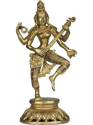 Dancing Saraswati