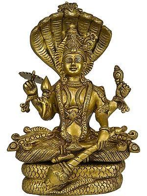 Lord Vishnu Seated on Sheshnag