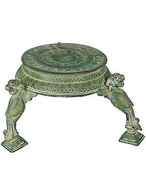 Ritual Chowki (Pedestal) with Yali Stand