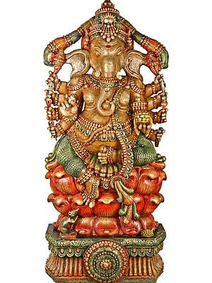 Large Size Ten-Armed Kamalasana-Ganapati