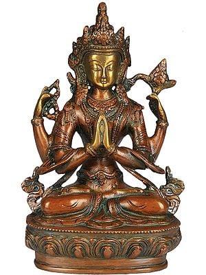 (Tibetan Buddhist Deity) The Four Armed Avalokiteshvara