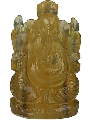 Lord Ganesha (Carved in Fluorite)