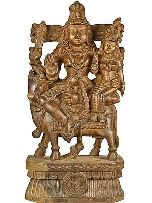 Large Size Shiva Parvati Seated on Nandi