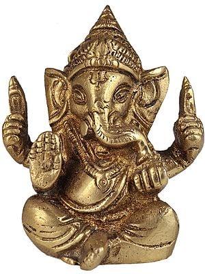 Baby Ganesha Granting Abhaya