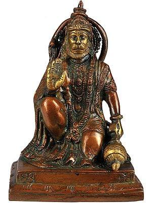 Lord Hanuman Granting Abhaya to His Devotees