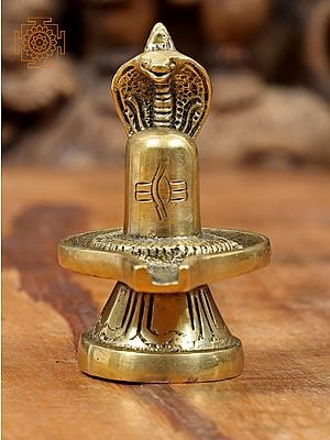 Shiva Linga with Snake Crowning It
