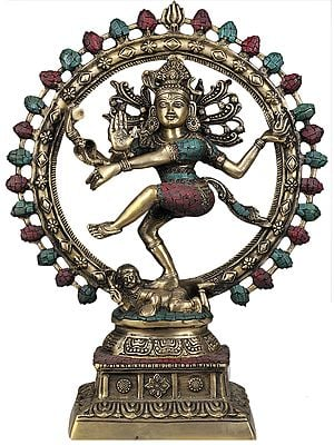Lord Shiva as Nataraja (With Inlay Work)