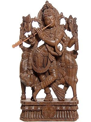 Large Size Shri Krishna with His Cow