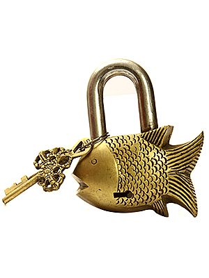 Auspicious Fish Lock with Vajra Keys