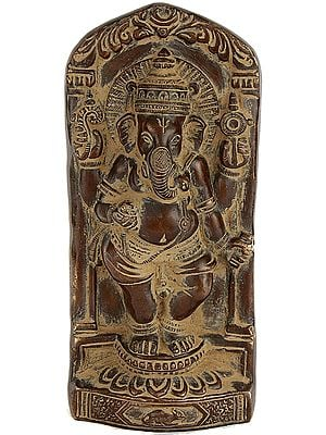 Dancing Ganesha (Cast in Relief)