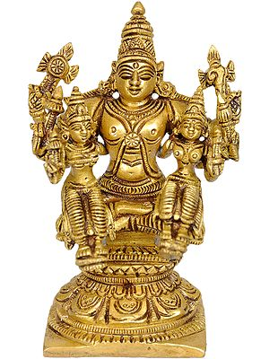 Lord Vishnu with Lakshmi and Bhudevi