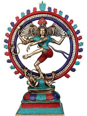 Nataraja (Large Statue with Superfine Inlay Work)