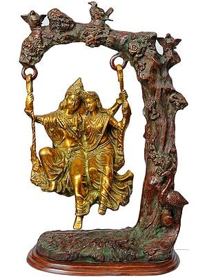 Radha and Krishna Swing Together