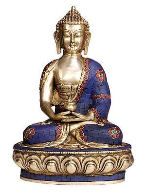 Lord Buddha with Pinda-Patra (with Superfine Inlay Work)