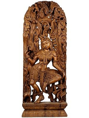 Yakshi Dancing with a Mirror in Hand