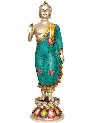 Standing Buddha (with Inlay Work)