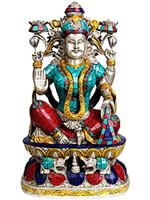 Goddess Lakshmi (with Inlay Work)