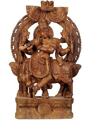 Lord Krishna, The Cowherd Deity From Vrindavan