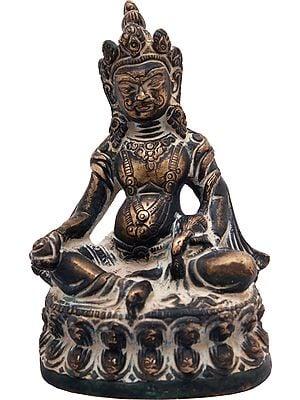Tibetan Buddhist Kubera with Jewel and Nakula (Mongoose)