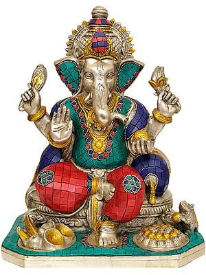 Lord Ganesha (With Inlay Work)