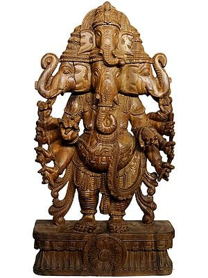 Large Size The Five-faced Heramba Ganesha