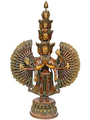 Tibetan Buddhist Deity Thousand-Armed Avalokiteshvara