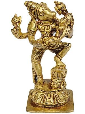 Varahavatara of Vishnu with Bhudevi (Small Statue)