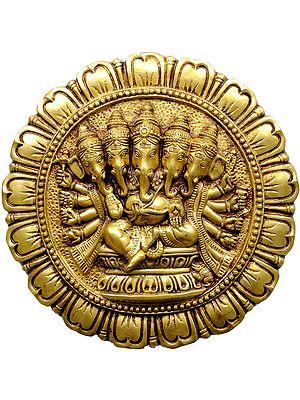 Five-Headed Ganesha Wall Hanging Plate