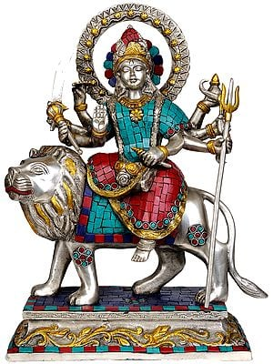 Goddess Durga (Inlay Statue)