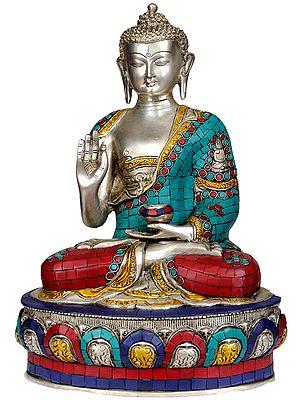 Shakyamuni Buddha Interpreting His Dharma (Inlay Statue)
