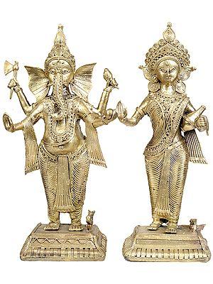 Lakshmi Ganesha  (Tribal Statue from Bastar)