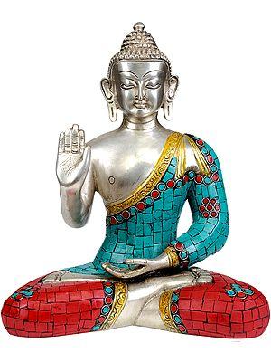 Shakyamuni Buddha Granting Abhaya (Inlay Statue)