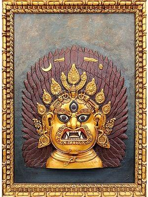 Tibetan Buddhist Deity-Mahakala (Framed Wall Hanging)