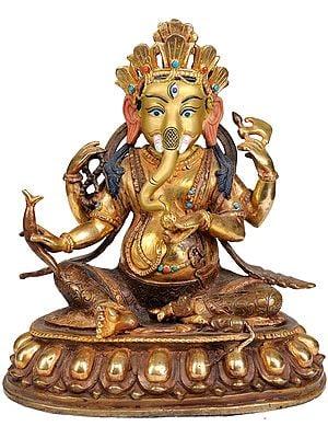 Lord Ganesha Holding a Radish