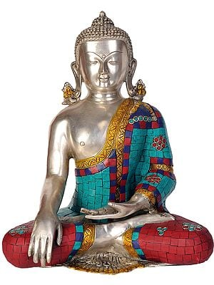 Lord Buddha in Bhumisparsha Mudra (Inlay Statue)