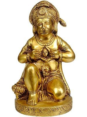Bhakta Hanuman Opens His Chest to Reveal an Image of Lord Rama
