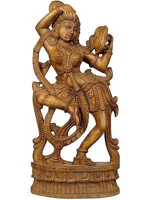 The Apsara Applying Vermillion (A Statue Inspired by Khajuraho)