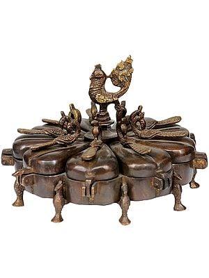 Peacock Ritual Box with Lids