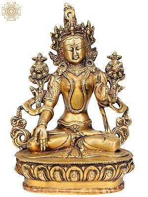 Tibetan Buddhist Goddess White Tara - who Bestows Endless Life to Her Devotees