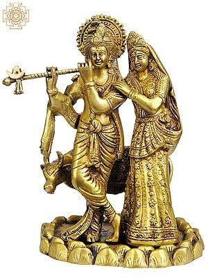 Radha-Krishna with Cow