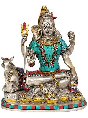 Shiva and Nandi (Inlay Statue)